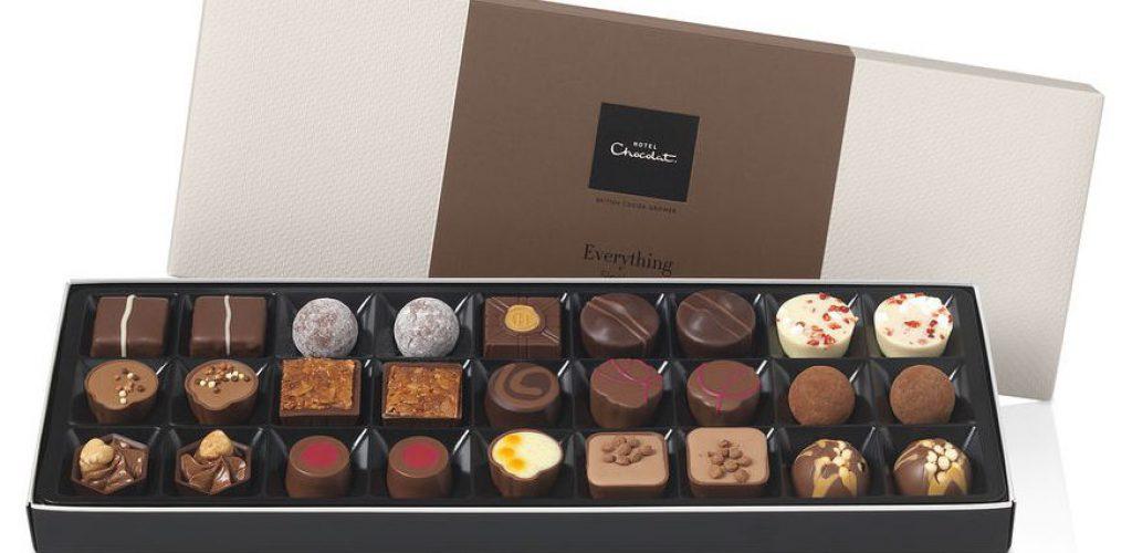 Æske med chokolade fra Hotel Chocolat - køb det hos PL Vinimport